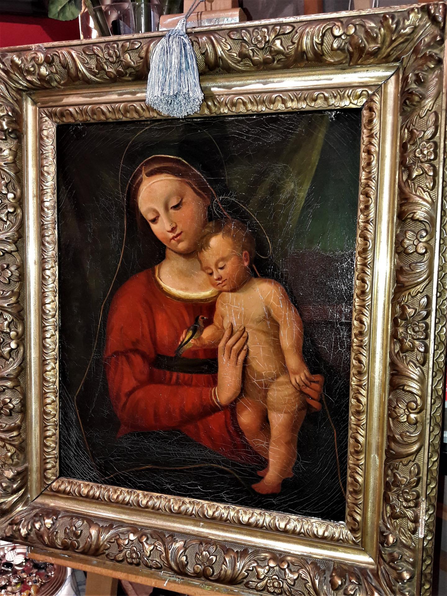 """""""Vierge à l'enfant"""". Vers 1870."""